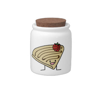 Happy Crepe Candy Jar