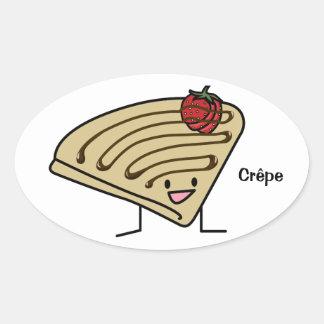 Happy Crepe Oval Sticker