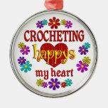 Happy Crocheting Ornaments