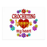 Happy Crocheting Post Card