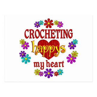 Happy Crocheting Post Card