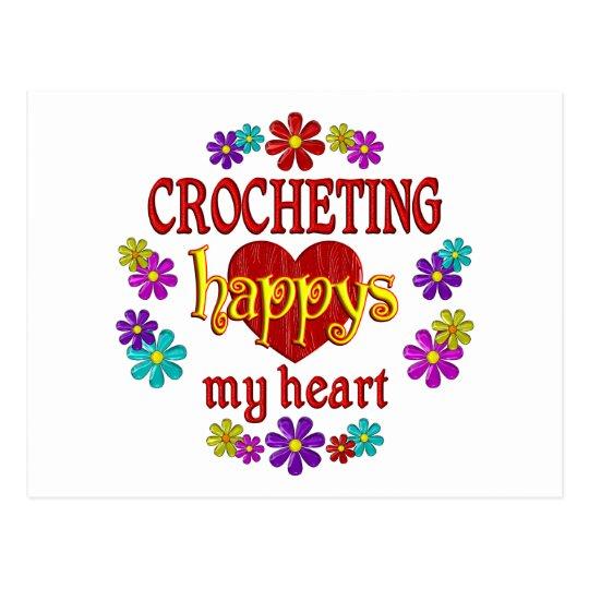 Happy Crocheting Postcard