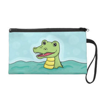 Happy Crocodile Wristlet