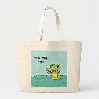Happy Crocodile customisable Canvas Bag