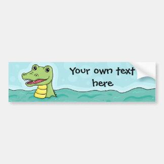 Happy Crocodile customisable Bumper Stickers