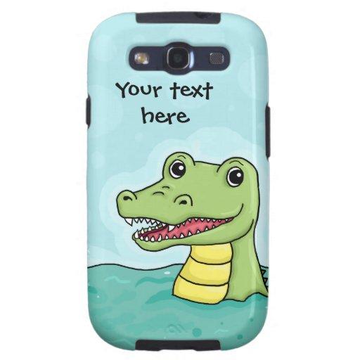 Happy Crocodile customisable Samsung Galaxy SIII Covers