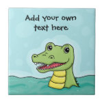 Happy Crocodile customisable Ceramic Tiles