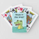 Happy Crocodile customisable Deck Of Cards