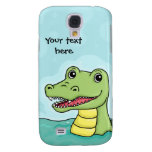 Happy Crocodile customisable Galaxy S4 Cases