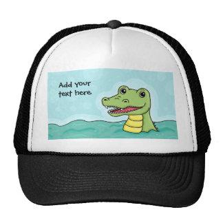 Happy Crocodile customisable Mesh Hats
