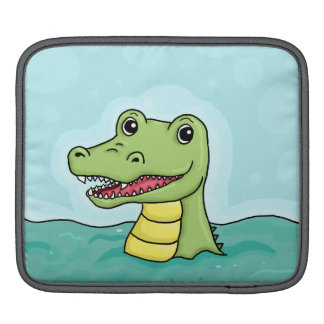 Happy Crocodile customisable iPad Sleeve