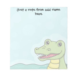 Happy Crocodile customisable Note Pads