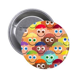 Happy Crowd Pinback Button