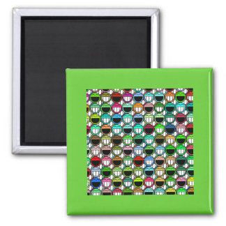 HAPPY CROWD 2 INCH SQUARE MAGNET