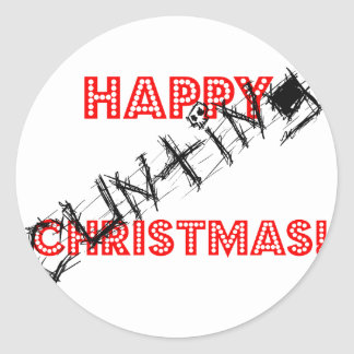Happy Cunting Christmas! Classic Round Sticker