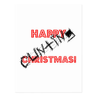 Happy Cunting Christmas! Postcard