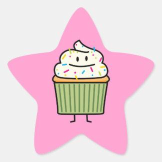 Happy Cup cake Star Sticker