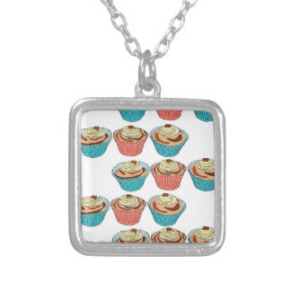 Happy Cup Cakes Silver Plated Necklace