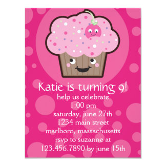 Happy Cupcake Birthday Party Invitation