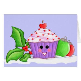 Happy Cupcake Christmas Card