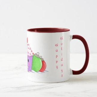 Happy Cupcake Christmas Mug