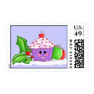 Happy Cupcake Christmas Postage