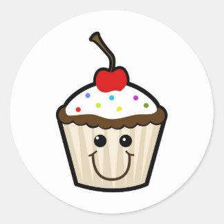 Happy Cupcake Classic Round Sticker