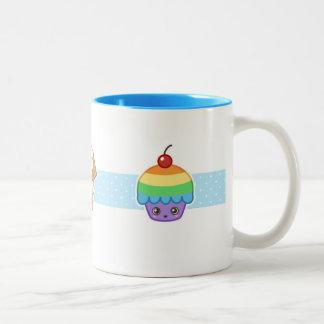 Happy Cupcake Mug Blue