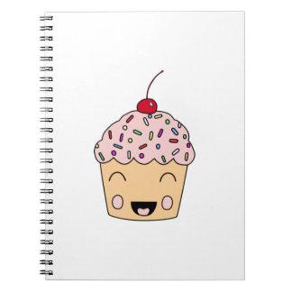 Happy Cupcake Spiral Notebook