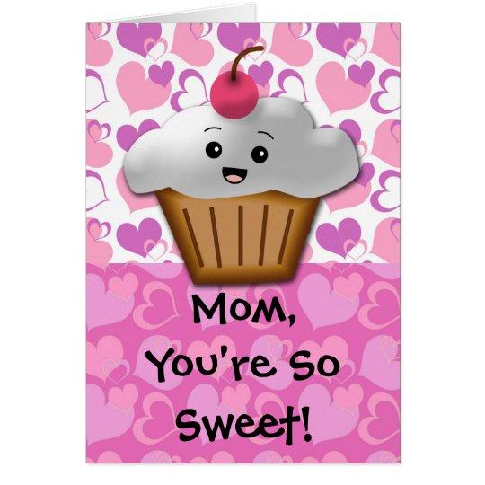 Happy Cupcake Sweet Mom Card