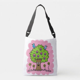 Happy Cupcake Tree with Birds Bag