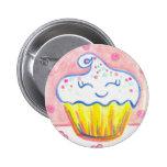 Happy Cupcake Valentine Button Pin