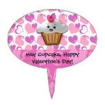 Happy Cupcake Valentine Cake Pick