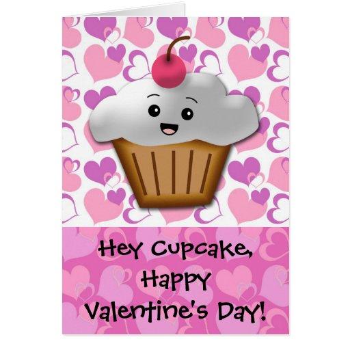 Happy Cupcake Valentine Greeting Card