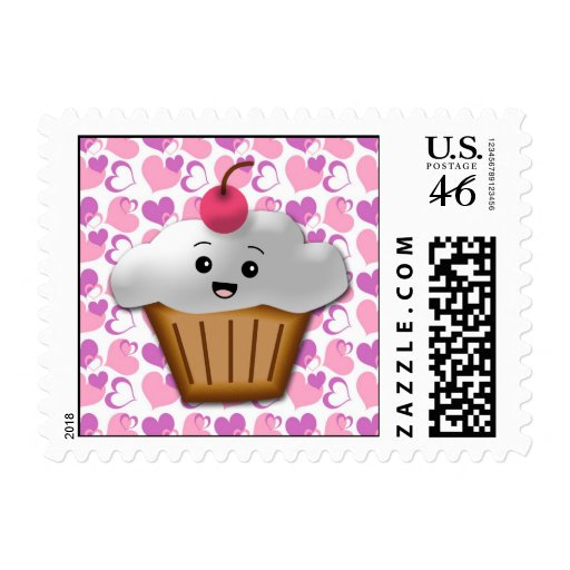 Happy Cupcake Valentine Stamps