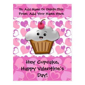 Happy Cupcake Valentine Post Card
