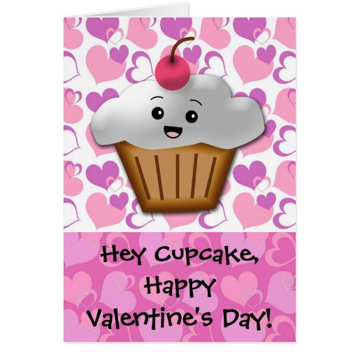 Happy Cupcake Valentine Stationery Note Card