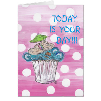 Happy Cuppy Cake Birthday Card