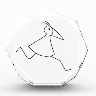 happy-curious-busy: the basic RUNNY-bird Acrylic Award