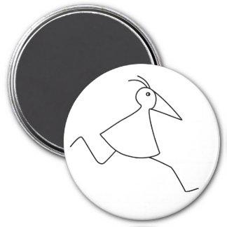 happy-curious-busy the basic RUNNY-bird Fridge Magnets