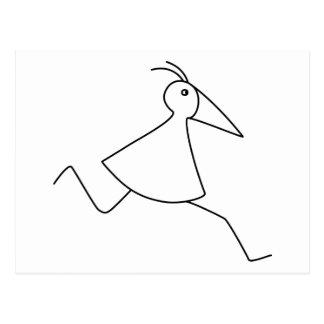 happy-curious-busy: the basic RUNNY-bird Postcard