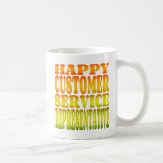 Happy Customer Service Representative in Sunshine Coffee Mug