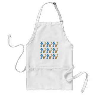 Happy Cut Dogs Smiling Pattern Adult Apron