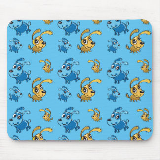 Happy Cut Dogs Smiling Pattern Mouse Pad