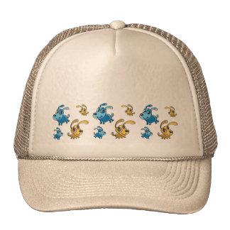 Happy Cut Dogs Smiling Pattern Trucker Hat