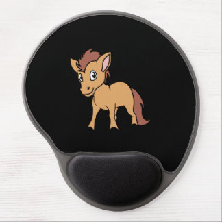 Happy Cute Brown Foal Little Horse Pony Colt Gel Mouse Pad