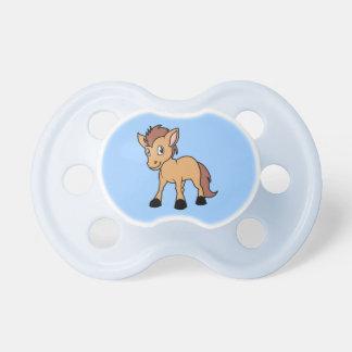 Happy Cute Brown Foal Little Horse Pony Colt Pacifier