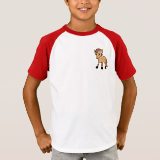 Happy Cute Brown Foal Little Horse Pony Colt T-Shirt