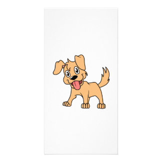 Happy Cute Brown Puppy Dog Tongue Out Photo Greeting Card