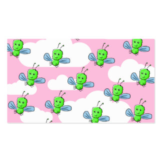 Happy Cute Bugs and Pink Sky Business Card